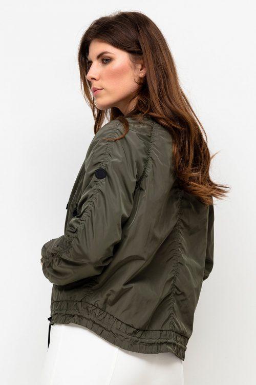 Forrest green sporty kort jakke med sorte detaljer Beaumont - bm.020.11.211