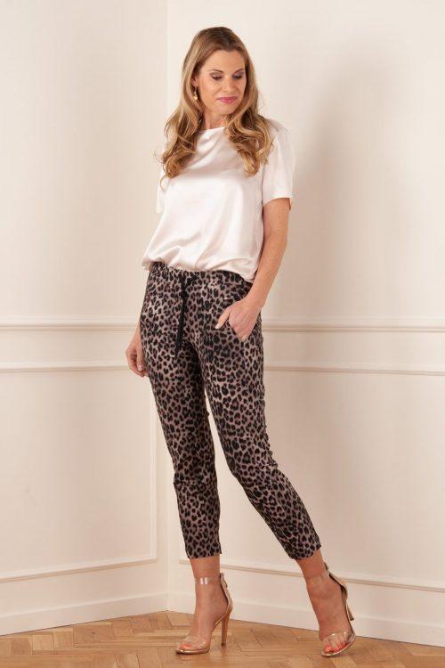 Leopard trendy sweatpants Cambio - 6745 0343-01 jordan seam cropped