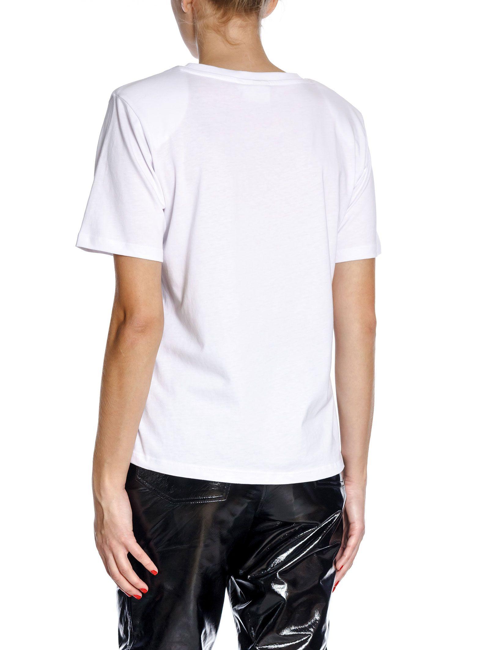 Hvit t-shirt med innsatt skulderputer Gestuz - jory tee