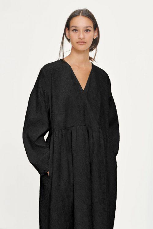 Black flower oversized kjole Samsøe - 11402 jolie dress