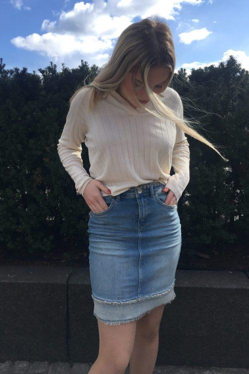 Råtøft jeansskjørt Mos Mosh - 138710 Everly Denim Skirt