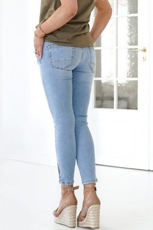 Light blue 7/8 smal jeans med dekor Mos Mosh - etta mercury jeans light blue