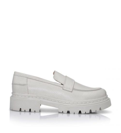 Krem eller sort loafer Shoe Biz - Suri