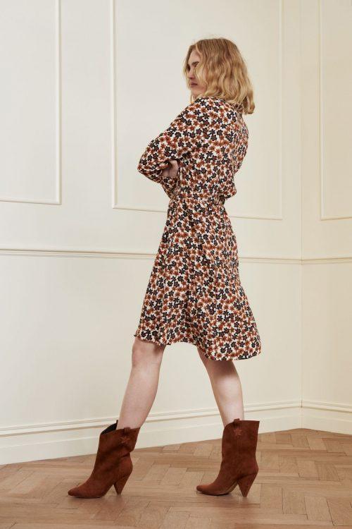Brandy club blomstermønstret viskose/rayon skjortekjole med belte Fabienne Chapot - hayley dress