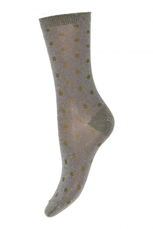 Grågrønn sokk MP Denmark - 79662-3010 Donna 52% Polyamide, 44% Metallic, 4% Elastane.