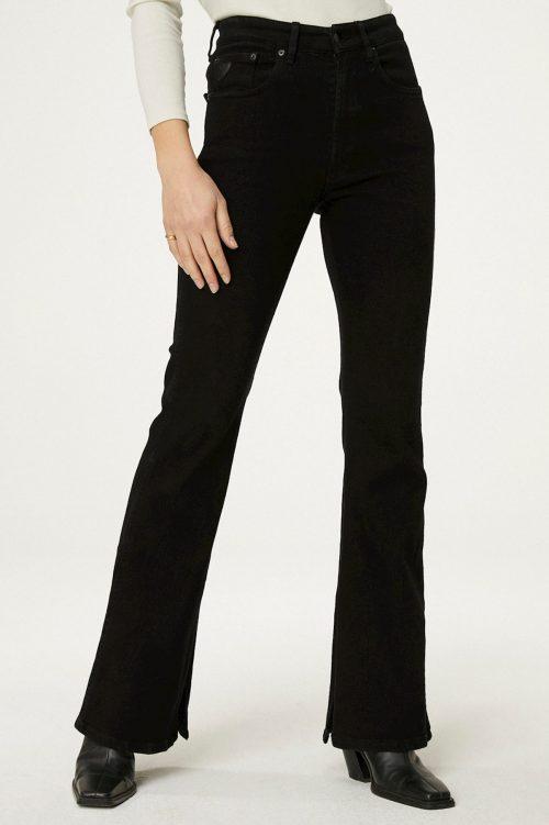 Sort 'Riley split dallas' kraftig jeans med høy splitt nederst Lois Jeans - 2756-6532 riley split dallas L32/L34