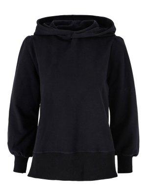 Dark grey melange (ikke sort) organisk bomull collage hoodie Ella&Il - tina hoodie