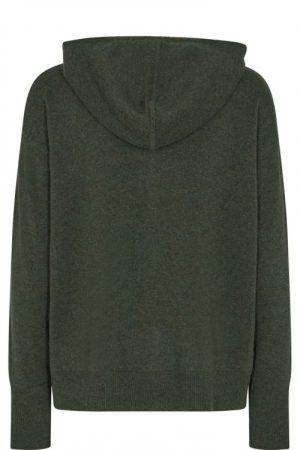 Grønn 100% ull strikket hoodie Mos Mosh - 139730 robyn hooded knit cardigan