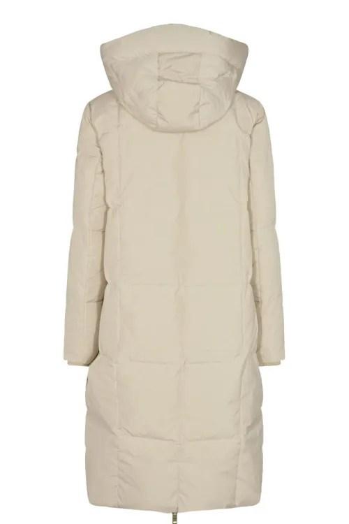 Krem eller lindegrønn dunkåpe med hette Mos Mosh - 139560 nova square down coat