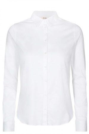 Hvit, navy eller grønn myk og stretchy jerseyskjorte Mos Mosh - 131660 tina jersey shirt