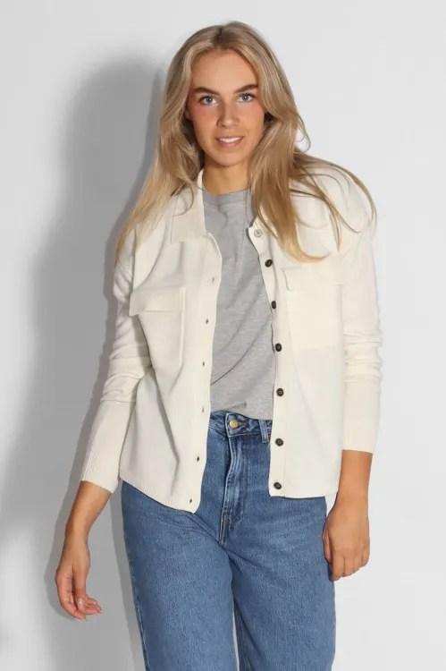Offwite 100% ull skjortejakke med brystlommer Gestuz - thilda wool cardigan