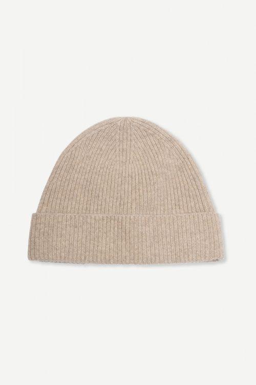 Warm grey eller sky captain 100% ull lue Samsøe - 12758 amaris beanie