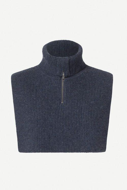 Warm grey eller sky captain hals med glidelås Samsøe - 12758 flinti zip