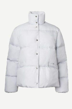 Gray dawn isblå boblejakke Samsøe - 13180 lyra jacket