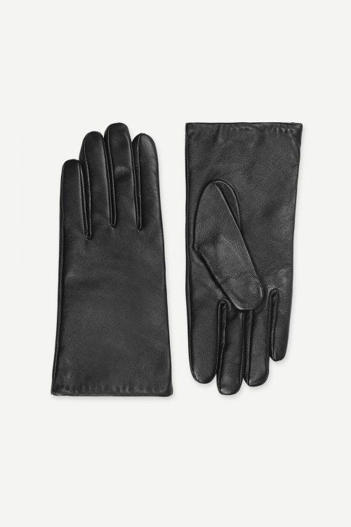 Sorte skinnhansker Samsøe - 8168 polette glove