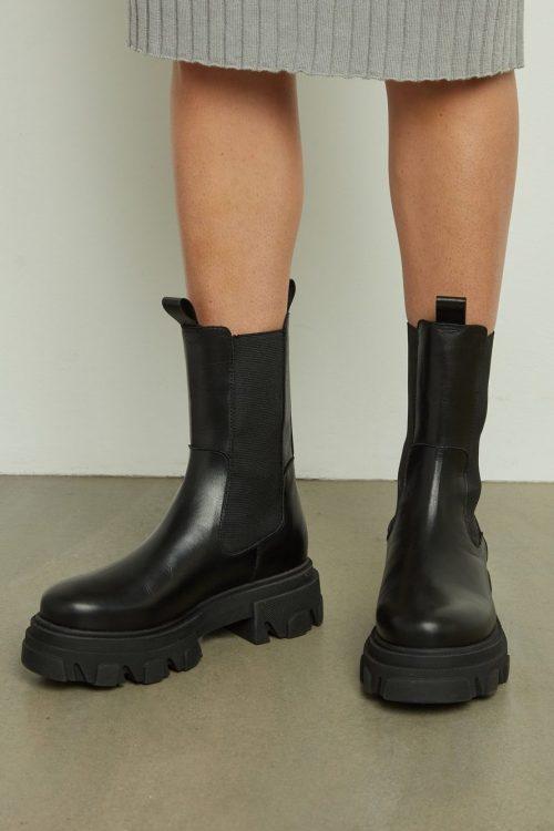 Sorte boots med chunky såle Shoe Biz - Uma Vaca Alfa Polido B9562