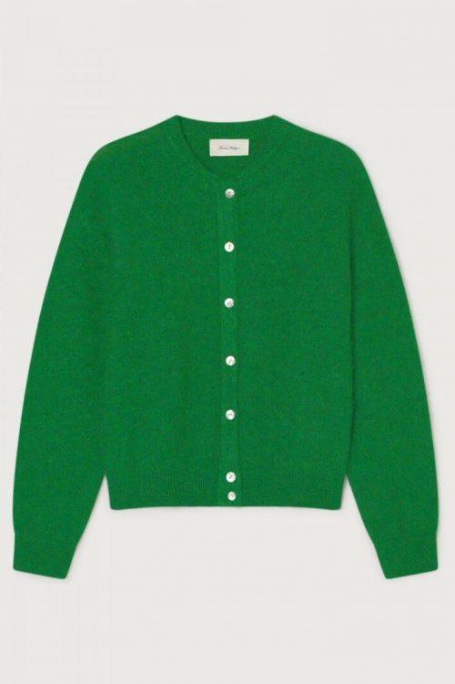 Fuchsia eller gressgrønn mohairmix cardigan American Vintage - zabi255