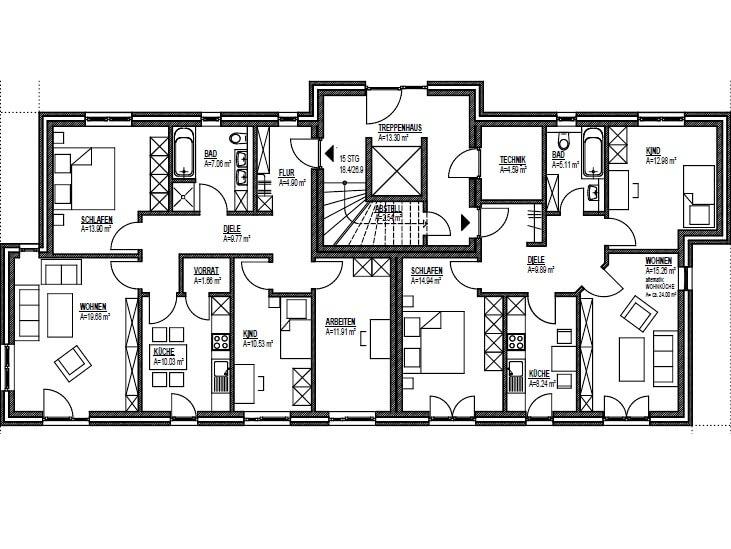 Haus Bauen Grundrisse Grundriss Kernhaus Bungalow Vita