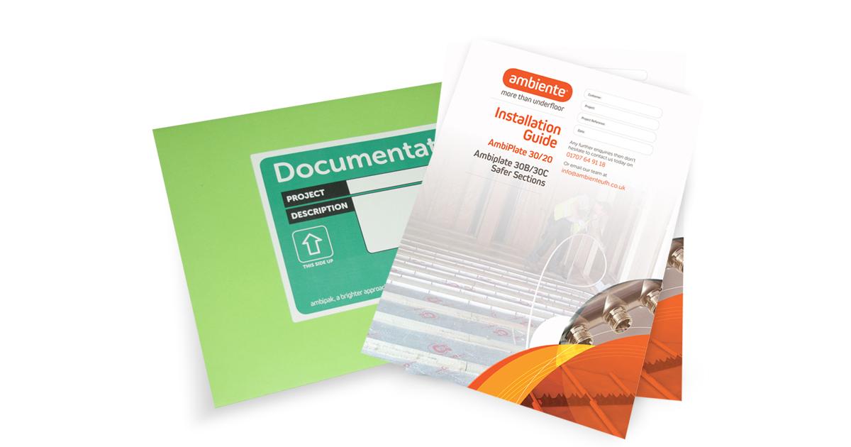 Ambiente installation guides for underfloor heating.
