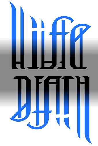 Life Death Ambigram : death, ambigram, Death, Ambigram, Design