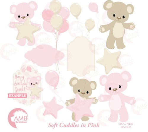small resolution of baby girl clipart nursery birthday party baby shower for a girl teddy