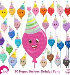 balloon clipart birthday clipart birthday party party hat clipart emoticons commercial [ 1500 x 1500 Pixel ]