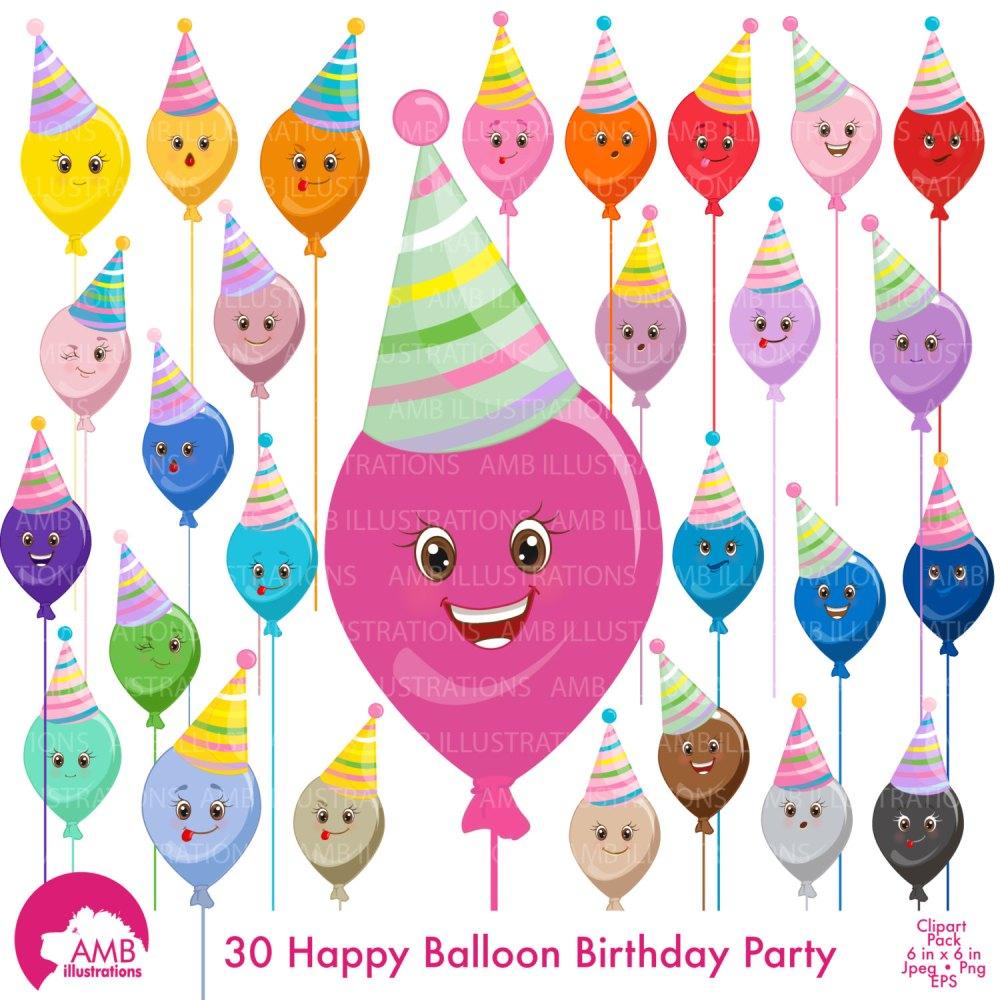 medium resolution of balloon clipart birthday clipart birthday party party hat clipart emoticons commercial
