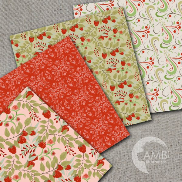 Botanical Digital Paper Floral Papers Shabby