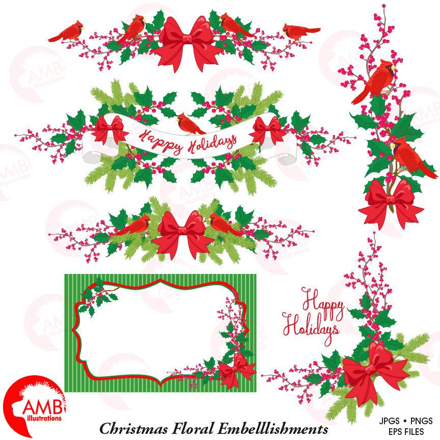 christmas clipart christmas floral