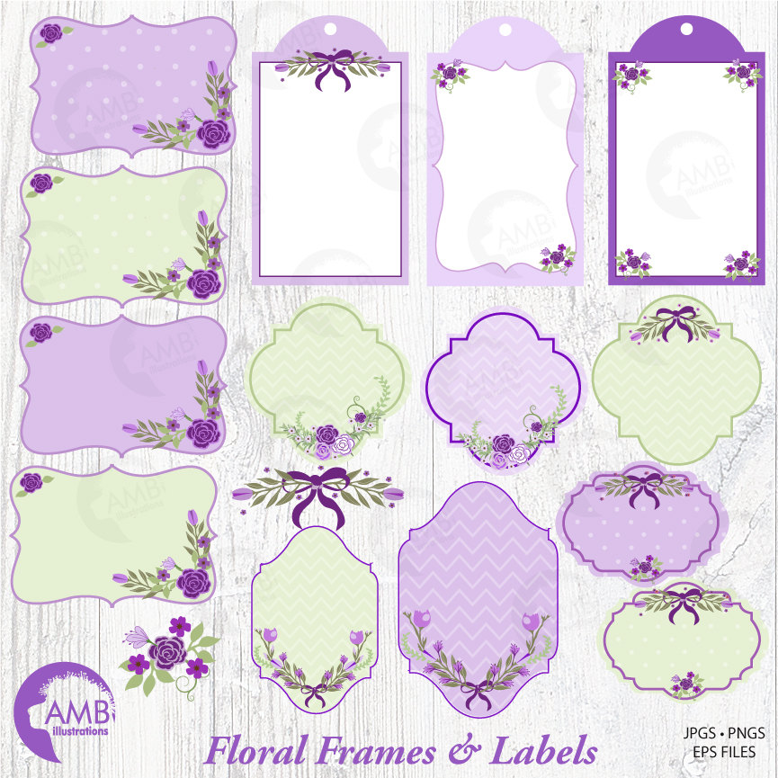 lavender frames and tags