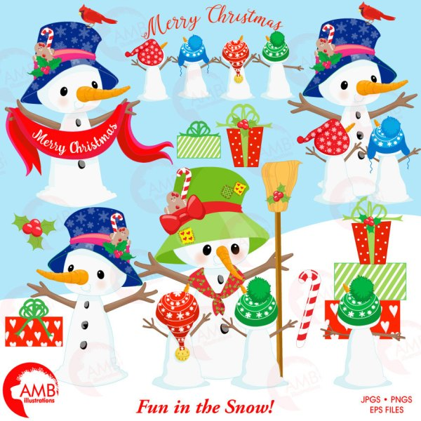 snowman clipart christmas