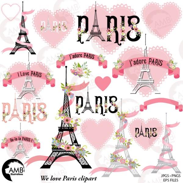 paris clipart pink clip