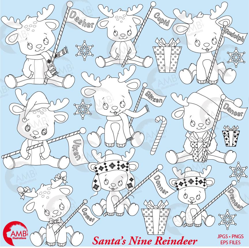 santa s cute reindeer