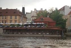 Kampa park Restaurant from the opposite side of the bridge.