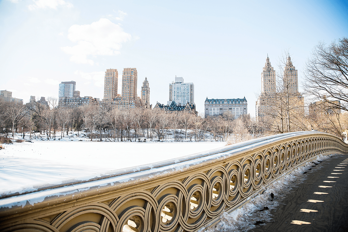 Beautiful photos of New York City February 2015 Bow Bridge view