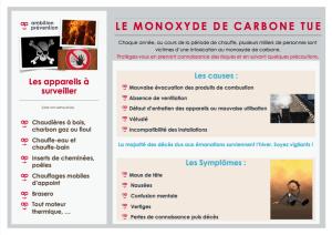 Le monoxyde de carbone tue !