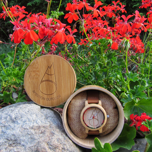 bamboo watch 38mm Ambition Outdoor Chamonix Mont Blanc