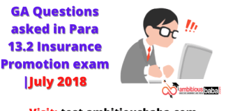 GA questions asked in Para 13.2 September 2018