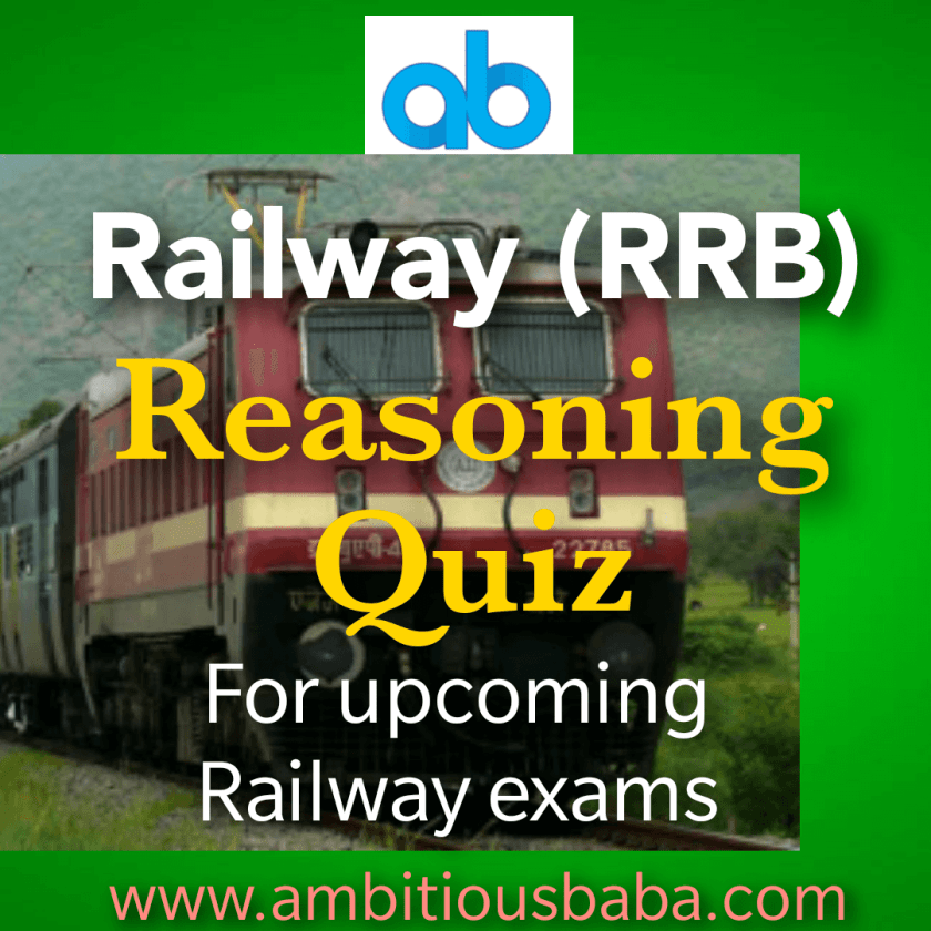 Railway JE General intelligence & Reasoning quiz for (Phase
