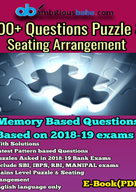 Memory Based Puzzle and Seating Arrangement E-book