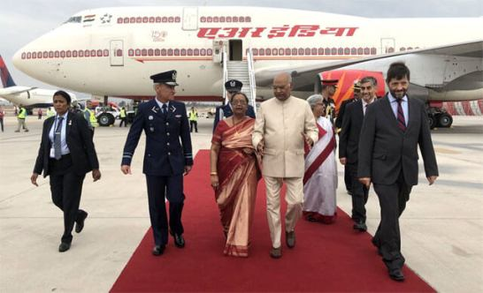 President Kovind arrives in Chile on the final leg of his 3-nation visit