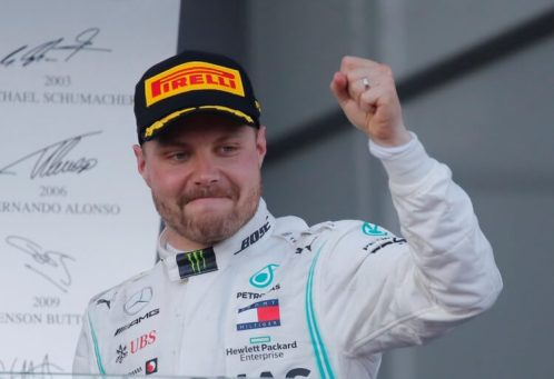 Bottas wins in Azerbaijan, retakes championship lead