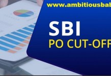 sbi po previous year cutoff