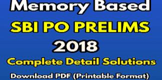 sbi po pre 2018 memory based paper