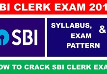 sbi clerk 2019 syllabus and exam pattern