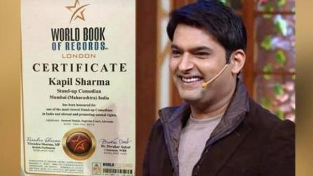 Comedy king Kapil Sharma gets honoured by World Book of Records London
