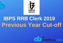 IBPS RRB Clerk Previous Year Cutoff