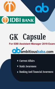 IDBI GK Capsule 2019