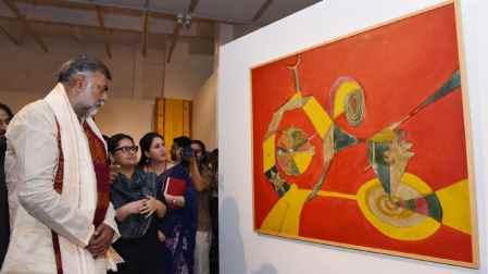 Culture Minister, Shri Prahlad Singh Patel, inaugurates the exhibition-'Astitva: The Essence of Prabhakar Barwe', in New Delhi