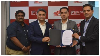 Honda Motorcycle ties-up with IDFC First Bank